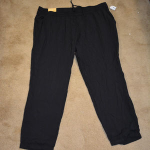 Old Navy Black Straight Droit mid-rise pants XL